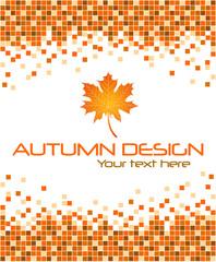 Autumn mosaic background