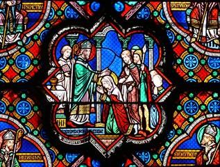 vitrail la bénédiction poitiers sainte radegonde france
