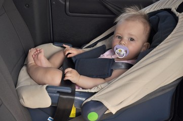 baby in carseat