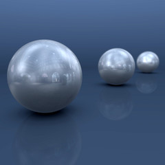 Bolas de Metal azul