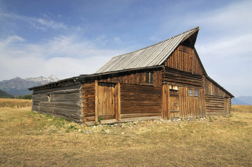 Old Barn in the Mountains