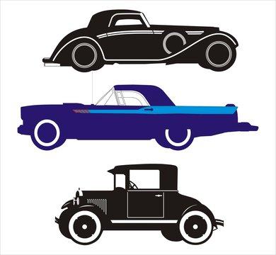 Vector illustration retro cars