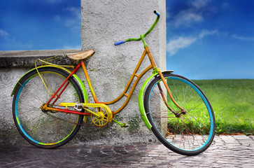 colorful old bike
