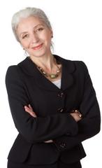 close-up portrayal of senior businesswoman