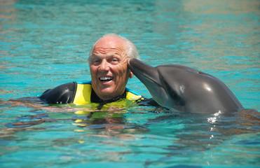 Older Men with delphin