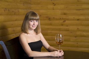 Portrait with wine