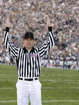 Football Referee Touchdown