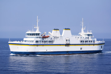 passenger and car ferry boat