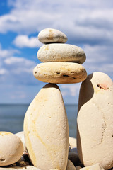 Balance of pebble