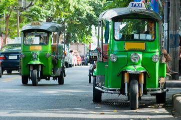 Poster Bangkok Tuk-tuk taxis in Bangkok