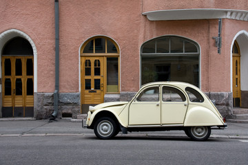 Small Old Car in the City