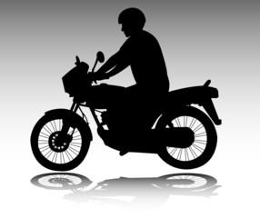 Wall Mural - motorcyclist - vector