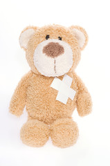 Teddy bear broken hearted