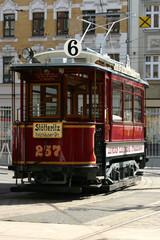 Historische Straßenbahn Leipzig Stötteritz
