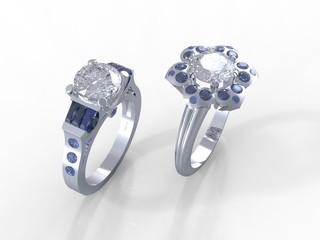 1 Carat diamond platinum Tiffany rings