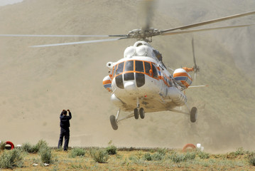 helicopter make a landing