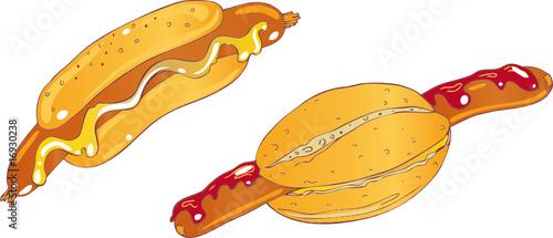 hot dog w rstchen mit br tchen semmel stockfotos und lizenzfreie vektoren auf. Black Bedroom Furniture Sets. Home Design Ideas