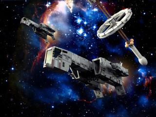 Wall Mural - spaceships at war