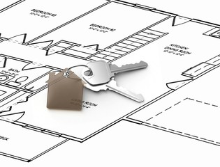 House plan and keys