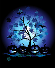 Halloween pumpkins illustration