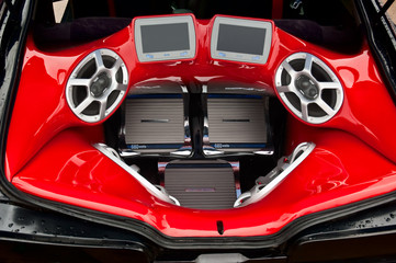 Audio system in the trunk