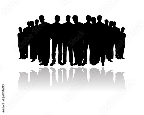 """vector people crowd silhouette"" Stock image and royalty ..."