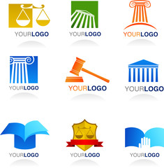 Vector law icons and elements