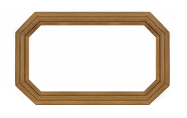 Octagonal wooden Frame for picture