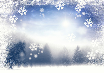 Cold Winter Scene (Illustration)
