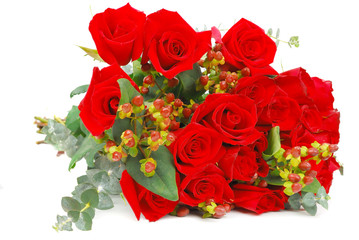 Full roses bouquet.