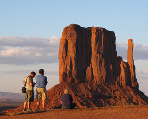 Waiting for sunset at Monument Valley