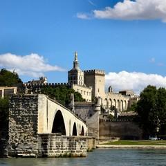 Avignon au bord du Rhône