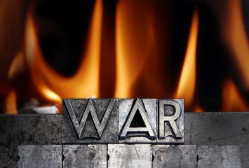 metallic letter - WAR