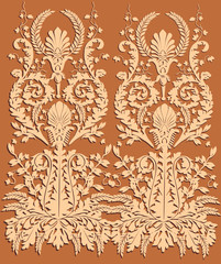 beige on brown vertical design