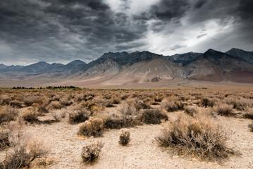 Photo sur Plexiglas Secheresse dark clouds in death valley