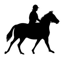 equestrian horse rider silhouette