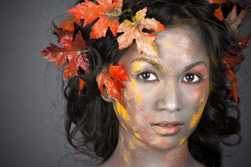 beautiful autumn face