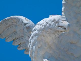 Hawk statue. Montescaglioso.Basilicata.