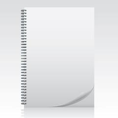 Office Elements - Blank Spiral Notebook