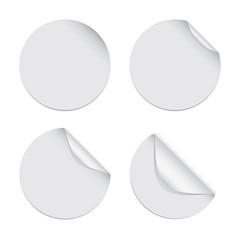Sticker Sets - Circle White