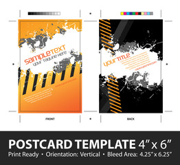 Grungy Postcard Template