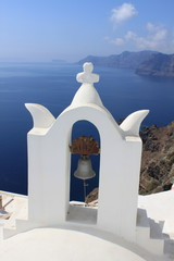 Clocher à Santorin - Cyclades - Grèce