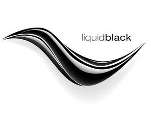 black wave design vector