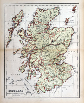Old map of  Scotland, 1870