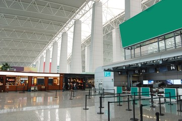 Hall in airport