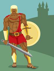 Spoed Foto op Canvas Ridders Warrior