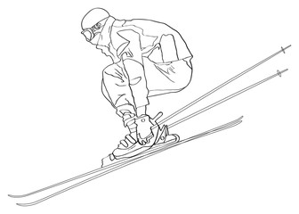 Ski Jumper Outline