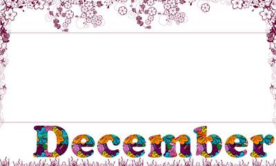 Kalender December Dezember