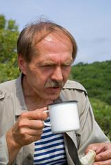 Men drinks tea 1