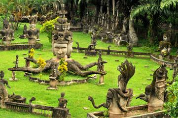 buddha statues in vientiane,laos